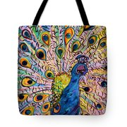 Flirty Peacock Tote Bag