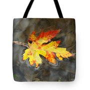 Floating Autumn Leaf Tote Bag