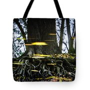 Floating Away On A Reflection Tote Bag
