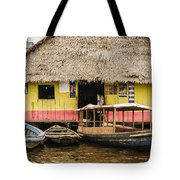 Floating Bar In Shanty Town Tote Bag