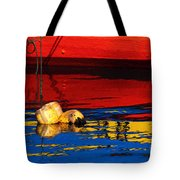 Floating Buoys And Reflections Tote Bag