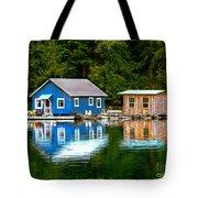 Floating Cabin Tote Bag