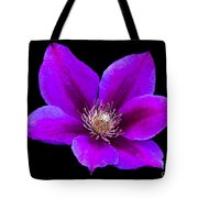 Floating Clematis Tote Bag