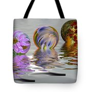 Floating Flowers Tote Bag
