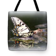 Floating In Water - Swallowtail -butterfly Tote Bag