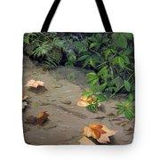 Floating Leaves By George Wood Tote Bag