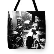 Floating Markets In Black And White Tote Bag