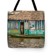 Floating Pub In Shanty Town Tote Bag