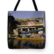 Floating Shop Along With Another Shop On Floats In The Dal Lake Tote Bag