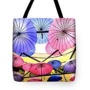 Floating Umbrella Tote Bag