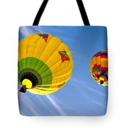 Floating Upward Hot Air Balloons Tote Bag