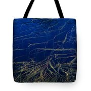 Floating Weeds In Picture Lake Tote Bag