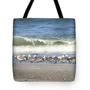 Flock And Wave Tote Bag