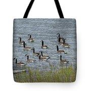 Flock Of Canada Geese   #7116 Tote Bag