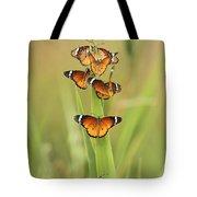 Flock Of Plain Tiger Danaus Chrysippus Tote Bag