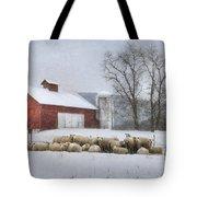 Flock Of Sheep Tote Bag