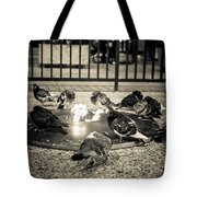 Flockin' Around The Fire Tote Bag