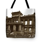 James Clair Flood Mansion Atop Nob Hill San Francisco Earthquake And Fire Of April 18 1906 Tote Bag