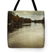 Flood Waters Milwaukee River 2013 Tote Bag