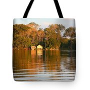 Flooded Amazon With Houses Tote Bag