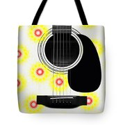 Floral Abstract Guitar 22 Tote Bag