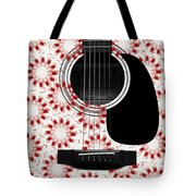 Floral Abstract Guitar 24 Tote Bag