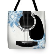 Floral Abstract Guitar 25 Tote Bag