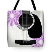 Floral Abstract Guitar 26 Tote Bag