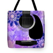 Floral Abstract Guitar 27 Tote Bag