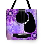 Floral Abstract Guitar 29 Tote Bag