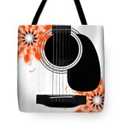 Floral Abstract Guitar 32 Tote Bag