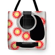 Floral Abstract Guitar 8 Tote Bag