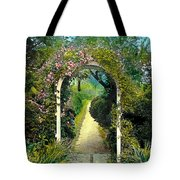 Floral Arch And Path Tote Bag