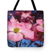 Floral Art Print Pink Dogwood Tree Flowers Tote Bag