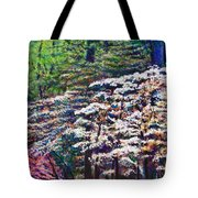 Floral Cathedral Tote Bag