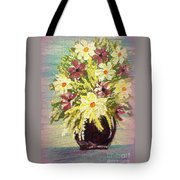 Floral Delight Acrylic Painting Tote Bag