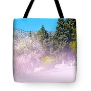Floral Entrance Tote Bag