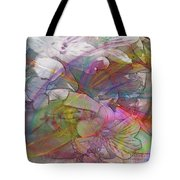 Floral Fantasy - Square Version Tote Bag