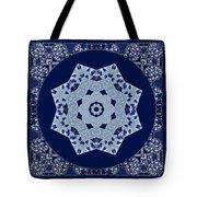 Floral Flow Blues Tote Bag