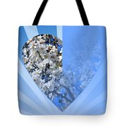 Floral Half Heart Tote Bag