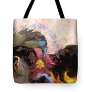 Floral Horse Tote Bag