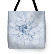 Floral Layers Cyanotype Tote Bag
