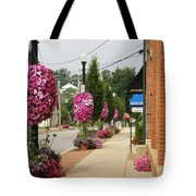 Floral Lining Tote Bag by Caryl J Bohn