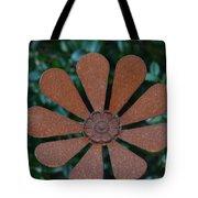 Floral Metal Art Tote Bag