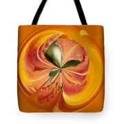 Floral Orange Orb Tote Bag