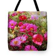 Floral Portulaca Garden Tote Bag