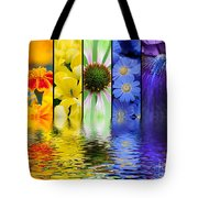 Floral Rainbow Tote Bag