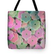 Floral Shape Sequins Tote Bag
