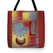 Floral Still Life In Red Tote Bag