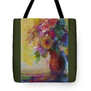 Floral Still Life Tote Bag by Mary Wolf